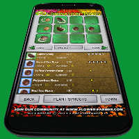 Flower Farmer Seed Germination Screen on the Motorola Droid 2 Mobile Phone